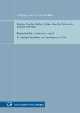 Coester-Waltjen / Lipp / Schumann   Europäisches Unterhaltsrecht   Buch   sack.de