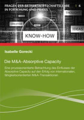 Gorecki   Die M&A-Absorptive Capacity   Buch   sack.de