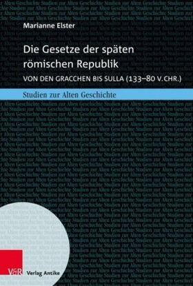 Elster | Die Gesetze der späten römischen Republik | Buch | sack.de