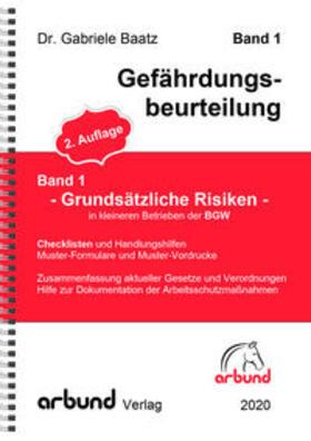 """Baatz   Band 1 - Gefährdungsbeurteilung """"Allgemeine Risiken""""   Buch   sack.de"""