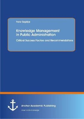 Sejdija   Knowledge Management in Public Administration   Buch   sack.de