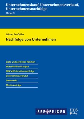 Seefelder   Nachfolge von Unternehmen   Buch   Sack Fachmedien