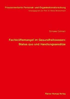 Cohnen   Fachkräftemangel im Gesundheitswesen   Buch   sack.de