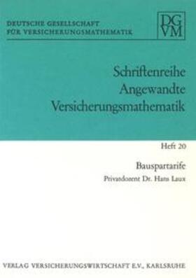Laux | Bauspartarife | Buch | sack.de