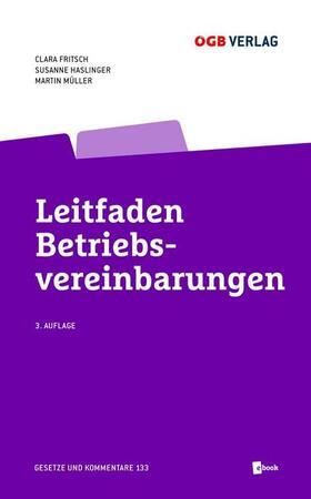 Fritsch / Haslinger / Müller | Leitfaden Betriebsvereinbarungen, m. 1 E-Book | Buch | sack.de