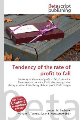Tendency of the rate of profit to fall | Buch | sack.de