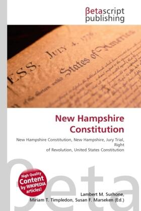 Surhone / Timpledon / Marseken | New Hampshire Constitution | Buch | sack.de