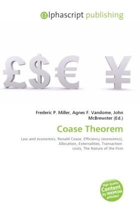 Miller / Vandome / McBrewster | Coase Theorem | Buch | sack.de