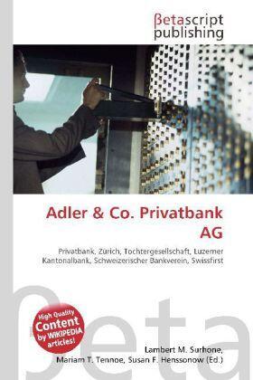 Surhone / Tennoe / Henssonow | Adler & Co. Privatbank AG | Buch | sack.de