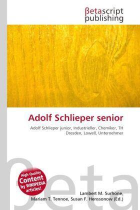 Adolf Schlieper senior | Buch | sack.de
