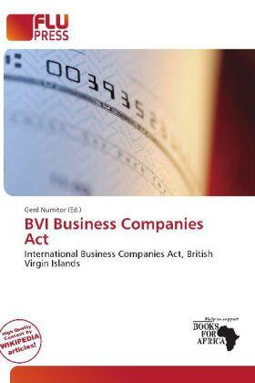 Numitor   BVI Business Companies Act   Buch   sack.de