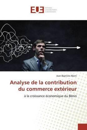 Analyse de la contribution du commerce extérieur | Buch | sack.de