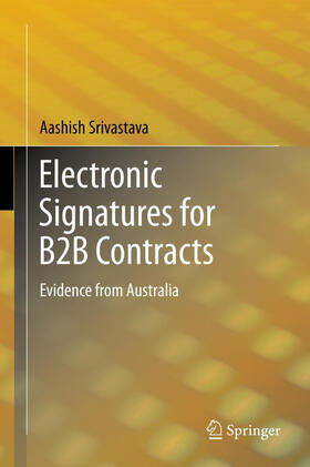 Srivastava | Electronic Signatures for B2B Contracts | Buch | sack.de