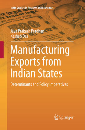 Pradhan / Das | Manufacturing Exports from Indian States | Buch | sack.de