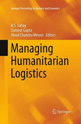 Sahay / Gupta / Menon   Managing Humanitarian Logistics   Buch   sack.de