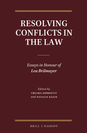 Giorgetti / Klein | Resolving Conflicts in the Law | Buch | sack.de