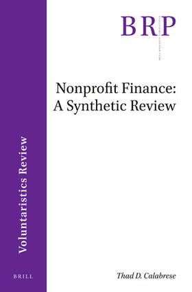 Calabrese | Nonprofit Finance: A Synthetic Review | Buch | sack.de