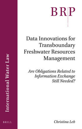 Leb | Data Innovations for Transboundary Freshwater Resources Management | Buch | sack.de