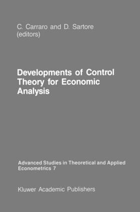 Carraro / Sartore | Developments of Control Theory for Economic Analysis | Buch | sack.de
