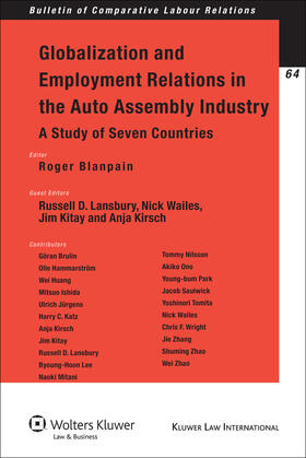 Blanpain / Lansbury | Globalization and Employment Relations in the Auto Assembly Industry | Buch | sack.de