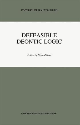 Nute   Defeasible Deontic Logic   Buch   sack.de