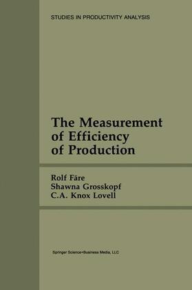 Färe / Knox Lovell / Grosskopf | The Measurement of Efficiency of Production | Buch | sack.de