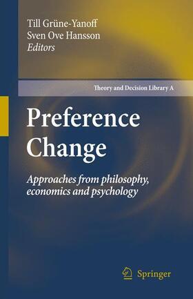 Hansson / Grüne-Yanoff   Preference Change   Buch   sack.de