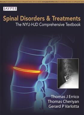 Errico / Cheriyan / Varlotta | Spinal Disorders & Treatment: The NYU-HJD Comprehensive Textbook | Buch | sack.de