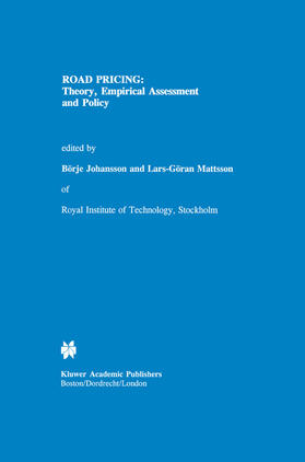 Johansson / Mattsson | Road Pricing: Theory, Empirical Assessment and Policy | Buch | sack.de