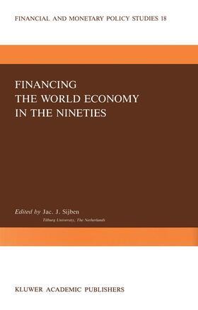 Sijben | Financing the World Economy in the Nineties | Buch | sack.de