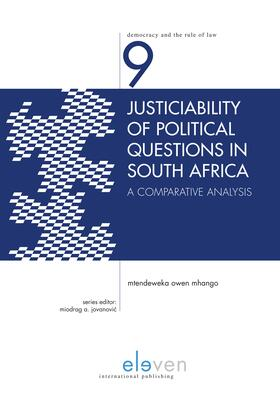 Mhango | Justiciability of Political Questions in South Africa | Buch | sack.de