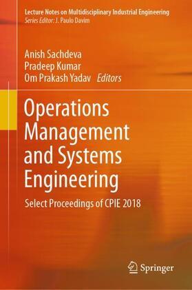 Sachdeva / Kumar / Yadav   Operations Management and Systems Engineering   Buch   sack.de