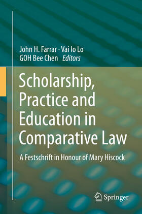 Farrar / Lo / Goh | Scholarship, Practice and Education in Comparative Law | Buch | sack.de