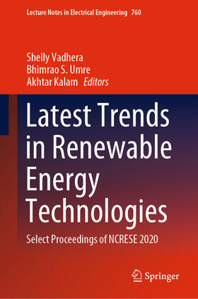 Vadhera / Umre / Kalam | Latest Trends in Renewable Energy Technologies | Buch | sack.de