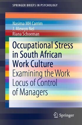 Carrim / Nel / Schoeman | Occupational Stress in South African Work Culture | Buch | sack.de